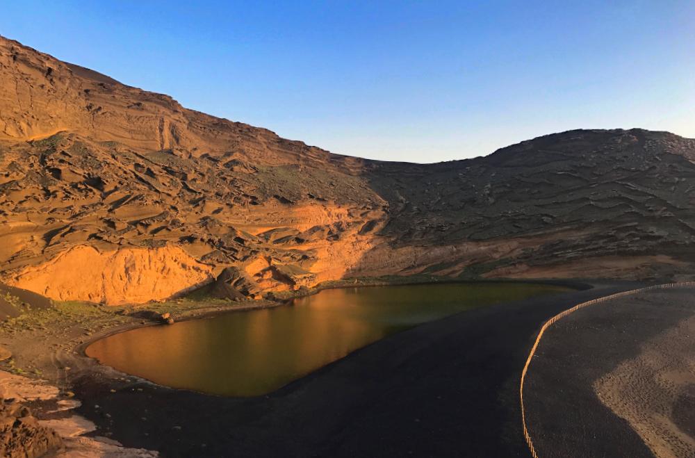 Charco de los clicos, il lago verde di Lanzarote