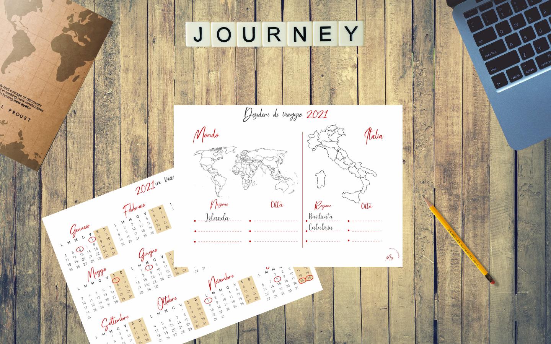 calendario di viaggio 2021 e lista dei desideri di viaggio