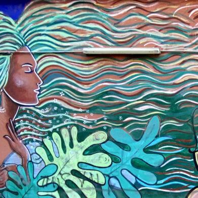 Murale Vento di Gutierrez alla Cirenaica