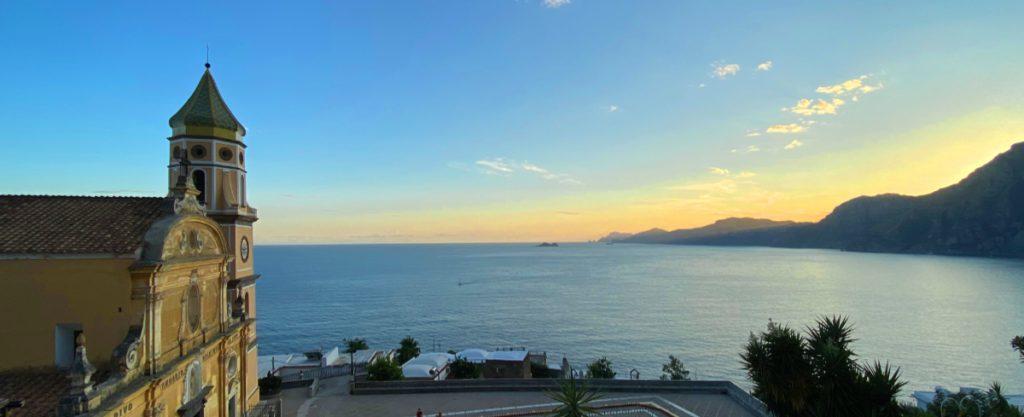 terrazza sul mare a Praiano