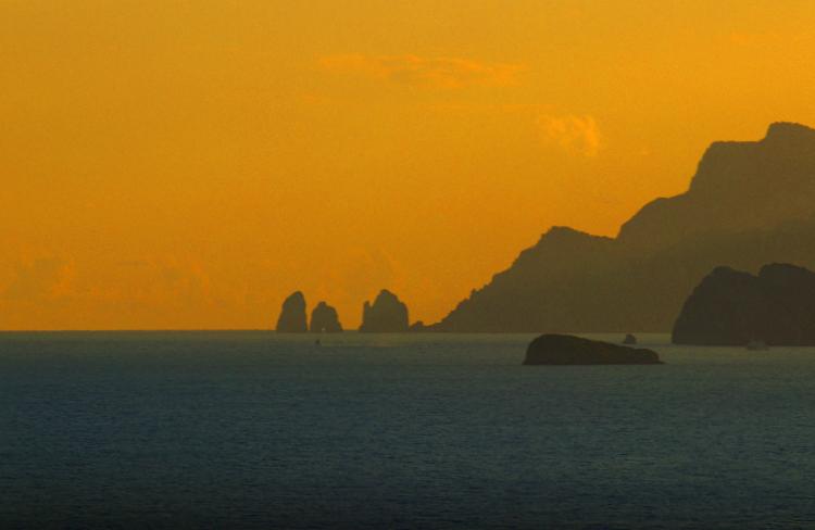 tramonto a Praiano